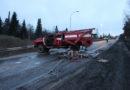 В Берёзовском пожарный автомобиль попал в ДТП