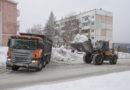 С проспекта Ленина вывозят снег