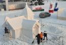 В Берёзовском возводят снежные городки