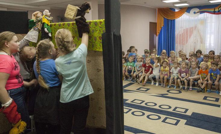 Воспитанники  «Журавушки» приобщаются к театральному искусству