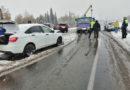 Сентябрьский снег стал причиной двух массовых ДТП на трассе